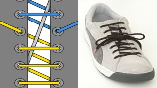 Cách buộc dây giầy kiểu mới sẽ mang đến diện mạo mới cho đôi giày của bạn