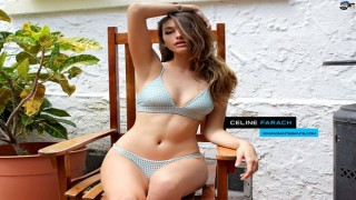 ''Nữ thần'' Celine Farach khoe vòng 1 mơn mởn bên bể bơi